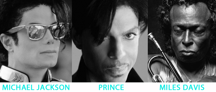 Michael Jackson Prince Miles Davis